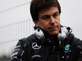 Toto Wolff the Mercedes GP Executive Director looks on from the pitwall during day four of Formula One Winter Testing at the Circuito de Jerez on January 31, 2014