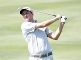 Brendon Todd plays a shot on the 16th hole during the second round of the HP Byron Nelson Championship at the TPC Four Seasons Resort on May 16, 2014
