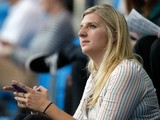 Ex swimmer Rebecca Adlington watches on from the stands on day three of the 2013 British Gas International meeting at John Charles Centre for Sport on March 9, 2013