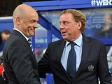 Harry Redknapp Manager of Queens Park Rangers and Uwe Rosler Manager of Wigan ahead of the Sky Bet Championship Play Off Semi Final second leg match between Queens Park Rangers and Wigan Athletic at Loftus Road on May 12, 2014