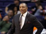 Head coach Alvin Gentry of the Phoenix Suns reacts during the NBA game against the Milwaukee Bucks at US Airways Center on January 17, 2013
