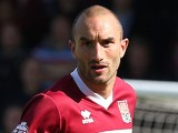 Chris Hackett of Northampton Town in action during the Sky Bet League Two match between Northampton Town and Oxford United at Sixfields Stadium on May 3, 2014