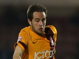 Matthew Dolan of Bradford City in action during the Sky Bet League One match between Coventry City and Bradford City at Sixfields Stadium on April 1, 2014