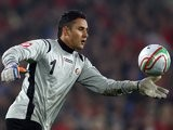 Costa Rica goalkeeper Keylor Navas makes a clearance on February 29, 2012.