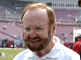 Tampa Bay Buccaneers owner Malcolm Glazer is on the sidelines before play against the Buffalo Bills September 18, 2005
