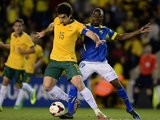 Crystal Palace's Australian midfielder Mile Jedinak battles for possession against Ecuador on March 05, 2014.