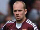 Jamie Hamill of Hearts in action during a pre season friendly match between Dunfermline Athletic and Hearts at East End Park on July 13, 2013