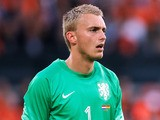 Goalkeeper, Jasper Cillessen of Netherlands looks on during the International Friendly match between Netherlands and Ghana at De Kuip on May 31, 2014