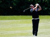 Mikael Lundberg of Sweden plays a shot during the Lyoness Open day two at the Diamond Country Club on June 6, 2014