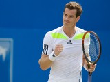 Britain's Andy Murray reacts after beating France's Paul-Henri Mathieu during their second round match on day three of the ATP Aegon Championships tennis tournament at The Queen's Club in west London, on June 11, 2014