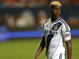Gyasi Zardes #29 of Los Angeles Galaxy looks on during the International Champions Cup Third Place Match against AC Milan at Sun Life Stadium on August 7, 2013
