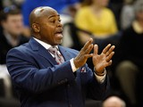 Head coach Sidney Lowe of the North Carolina State Wolfpack yells to his team against the Wake Forest Demon Deacons during their game at Lawrence Joel Coliseum on February 13, 2011
