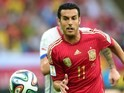 Spain's forward Pedro Rodriguez dribbles the ball during a Group B football match between Spain and Chile in the Maracana Stadium in Rio de Janeiro during the 2014 FIFA World Cup on June 18, 2014