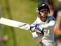 Tom Latham of New Zealand bats during day three of the 2nd Test match between New Zealand and India at the Basin Reserve on February 16, 2014