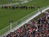 The field in action during the Windsor Castle Stakes on day one of Royal Ascot at Ascot Racecourse on June 17, 2014
