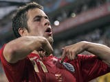 English midfielder Joe Cole celebrates after scoring during the opening round Group B World Cup football match Sweden vs. England, 20 June 2006