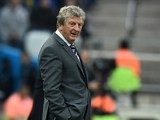England's coach Roy Hodgson looks on during the Group D football match between Uruguay and England at the Corinthians Arena in Sao Paulo on June 19, 2014