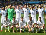 England players pose ahead of the Group D football match between Costa Rica and England at The Mineirao Stadium in Belo Horizonte on June 24, 2014