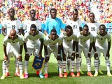 Ghana players pose for a team photo during the 2014 FIFA World Cup Brazil Group G match between Portugal and Ghana at Estadio Nacional on June 26, 2014