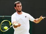 James Ward in action during round one of Wimbledon on June 23, 2014.