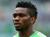 Joseph Yobo of Nigeria looks on during the National Anthem prior to 2014 FIFA World Cup Brazil Group F match between Nigeria and Argentina on June 25, 2014
