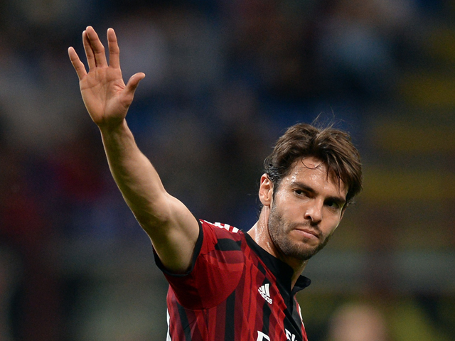 Kaka of AC Milan during the Serie A match between AC Milan and US Sassuolo Calcio at San Siro Stadium on May 18, 2014