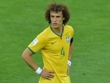 Brazil's defender and captain David Luiz reacts during the semi-final football match between Brazil and Germany at The Mineirao Stadium in Belo Horizonte during the 2014 FIFA World Cup on July 8, 2014