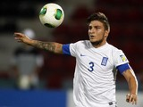 Greece's Konstantinos Stafylidis controls the ball during the group stage football match between Mali and Greece at the FIFA Under 20 World Cup at the Kamil Ocak Stadium in Gaziantep on June 25, 2013