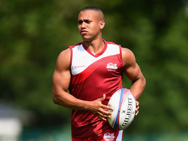 Marcus Watson in action during the England Sevens Squad Announcement for the Commonwealth Games on July 9, 2014 in London, England