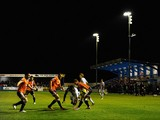 A general view of play during the FA Cup First Round Replay match between Nuneaton Town and Luton Town at the Triton Showers Community Arena on November 13, 2012
