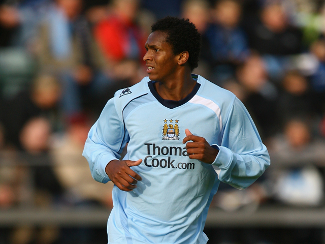 Jo Silva of Manchester City during the UEFA Cup 1st Round 1st Leg Qualifying match between EB/Streymur and Manchester City at the Torsvollur Stadium on July 17, 2008