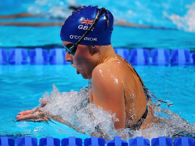 Siobhan-Marie O'Connor of Great Britain competes during the Swimming Women's 200m Individual Medley Final on day ten of the 15th FINA World Championships in Barcelona on July 29, 2013