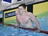 Adam Peaty of England after the men's 50m breaststroke semi-final on July 27, 2014
