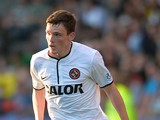 Andrew Robertson of Dundee United in action during the Scottish Premiership League match between Partick Thistle and Dundee United at Firhill Stadium on August 02, 2013