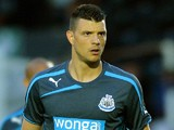 Haris Vuckic of Newcastle during the Pre Season Friendly match between St Mirren and Newcastle United at St Mirren Park on July 30, 2013