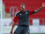 Jack Hunt of Nottingham Forest in action during the Pre Season Friendly match between Rotherham United and Nottingham Forest at The New York Stadium on July 23, 2014