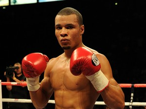 Chris Eubank Jnr of Great Britain poses after stopping Ivan Jukic of Croatia following their middleweight fight at the Phones 4u Arena on July 26, 2014