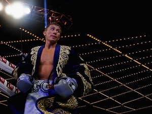 Gennady Golovkin looks on before his fight against Curtis Stevens for the WBA Middleweight Title at The Theater at Madison Square Garden on November 2, 2013