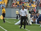 AC Milan's coach Filippo Inzaghi gives instructions to his players during a Champions Cup match against Manchester City at Heinz Field in Pittsburgh on July 27, 2014
