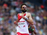 Martyn Rooney of England competes in the Men's 400 metres heats at Hampden Park during day five of the Glasgow 2014 Commonwealth Games on July 28, 2014