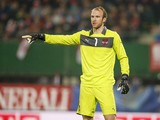 Goalkeeper Robert Almer of Austria reacts during the International friendly match between Austria and USA at the Ernst-Happel Stadium on November 19, 2013