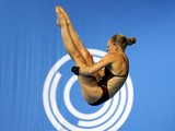 Sarah Barrow of England competes in the Women's 10m Platform Diving final at the Royal Commonwealth Pool in Edinburgh, Scotland on day eight of the 2014 Commonwealth Games,on July 31, 2014
