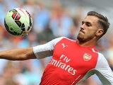 Aaron Ramsey in action for Arsenal during the Community Shield on August 10, 2014