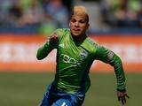 DeAndre Yedlin #17 of the Seattle Sounders FC follows the play against the Colorado Rapids at CenturyLink Field on April 26, 2014