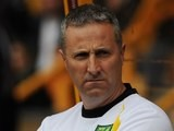 Norwich boss Neil Adams on August 10, 2014