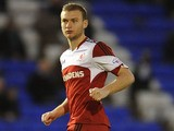 Ben Gibson of Middlesbrough in action during the Sky Bet Championship match between Birmingham City and Middlesbrough at St Andrews Stadium on December 07, 2013