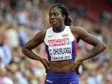 Christine Ohuruogu during the women's 400m heats in Zurich on August 12, 2014