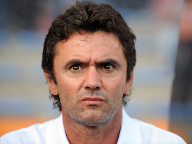 Lorient's French head coach Sylvain Ripoll looks on prior to the French L1 football match Lorient vs Nice on August 16, 2014
