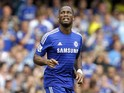 Chelseas Ivorian striker Didier Drogba is pictured during the English Premier League football match between Chelsea and Leicester City at Stamford Bridge in London on August 23, 2014