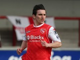Jack Redshaw of Morecambe in action during the Sky Bet League Two match between Morecambe and Northampton Town at Globe Arena on March 22, 2014